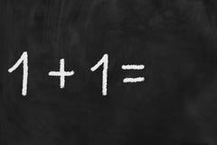 Se mais um é escrito em um quadro-negro Imagem de Stock Royalty Free
