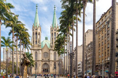 Se Metropolitan Cathedral in Sao Paulo, Brazil Royalty Free Stock Photo