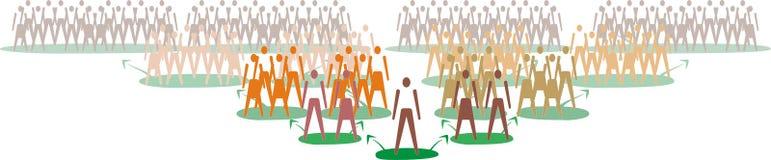 Se multiplier de gens Image libre de droits