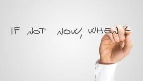 Se não agora, quando Fotografia de Stock