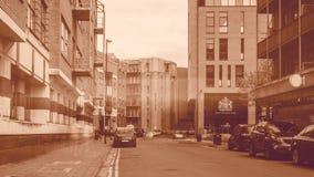 Se ner den Redcliff gatan Bristol England Arkivfoton