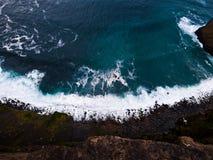 Se ner 600 fot som Atlanticet Ocean Fotografering för Bildbyråer