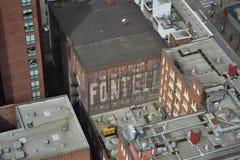 Se ner från det Smith Tower observationsdäcket, Seattle, Washington Royaltyfri Foto