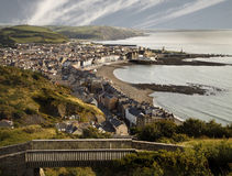 Se ner på Aberystwyth Arkivbild