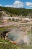 Se ner på den Yellowstone dalen arkivbilder