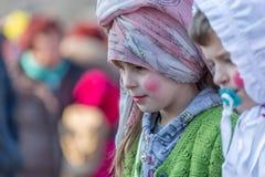 Se ner på karnevalet Royaltyfri Bild
