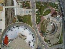Se ner på townen (färg) Arkivbilder