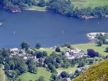 Se ner till Ullswater, sjöområde Royaltyfria Foton