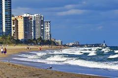Se norr till Pompanostranden Florida Royaltyfria Foton