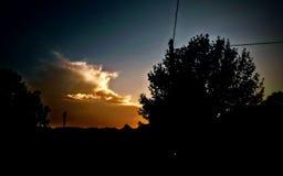 Se nubla el oro que brilla intensamente Fotografía de archivo