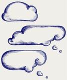 Se nubla la colección ilustración del vector