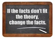 Se os fatos não cabem a teoria Foto de Stock