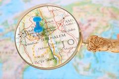 Se in på Jerusalem, Israel, Asien Arkivbild