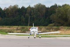 Se parquea el jet privado Fotos de archivo libres de regalías