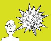 Se plaindre fâché d'homme de bande dessinée Illustration Libre de Droits