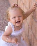 se princessen som ler upp Arkivfoto