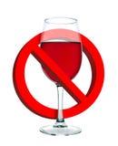 Se prohíbe el alcohol imágenes de archivo libres de regalías