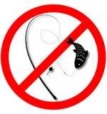 Se prohíbe la pesca Fotos de archivo libres de regalías