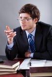 Se réunir au bureau d'avocat Images stock