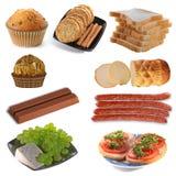 Se réunir de la nourriture délicieuse images libres de droits