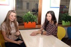 Se réunir femelle de deux amis Photo libre de droits