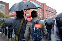 Se réunir le 6 septembre 2013 à l'appui de Navalny Photographie stock