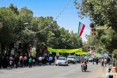 Se réunissant à Chiraz, l'Iran Images libres de droits