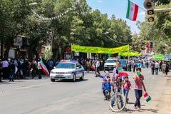 Se réunissant à Chiraz, l'Iran Image stock