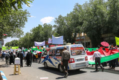 Se réunissant à Chiraz, l'Iran Photos stock