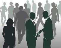 Se réunissant à un grand dos occupé, illustration de vecteur Illustration Libre de Droits