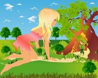 Se réunissant dans la forêt, illustration libre de droits