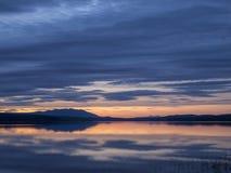 Se refléter de coucher du soleil Image libre de droits