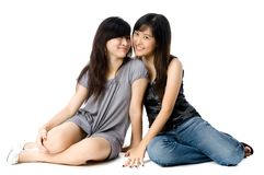 Se reposer de soeurs Photographie stock libre de droits