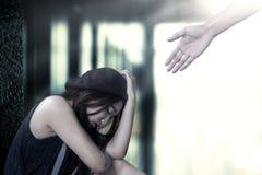 Se reposer frustrant d'adolescente isolé Photos libres de droits