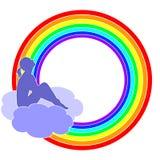 Se reposer sur un nuage Photographie stock libre de droits