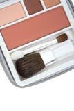 Se ruboriza y la gama de colores del sombreador de ojos fotografía de archivo libre de regalías