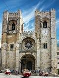 Se Santa Maria Maior de Lisboa, Portug della chiesa della cattedrale di Lisbona Fotografia Stock