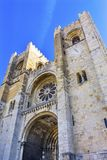The Se Sedes Episcopalis Cathedral Lisbon Portugal Royalty Free Stock Photography