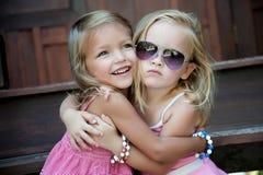 Se sentir de deux enfants Photo libre de droits