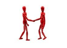 Se serrants la main pour deux hommes Image libre de droits