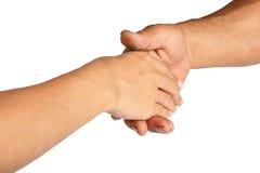 Se serrants la main pour deux hommes Photos libres de droits