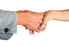 Se serrants la main pour deux hommes Photos stock