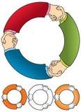 Se serrer la main illustration de vecteur