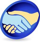 Se serrer la main le logo Image stock