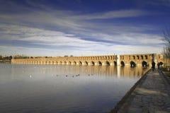 se si för bro o pol för 33 bågar Arkivbild