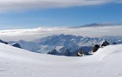 Se situer dans la neige Photographie stock libre de droits