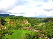 Se skönheten av kullelandskapet från en höjd royaltyfria foton