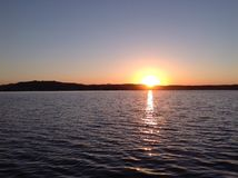 se solnedgången Arkivfoton