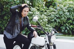 Se spegeln för bakre sikt för motorcykel Royaltyfri Fotografi