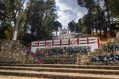 Se stigande till Templo de San Cristobal, San Cristobal de las Arkivfoton